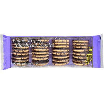 Great Value Fudge Striped Shortbread Cookies, 13 oz
