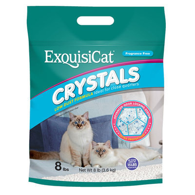 Exquisicat® Crystals Low Dust Formula Fragrance Free Cat Litter size: 8 Lb