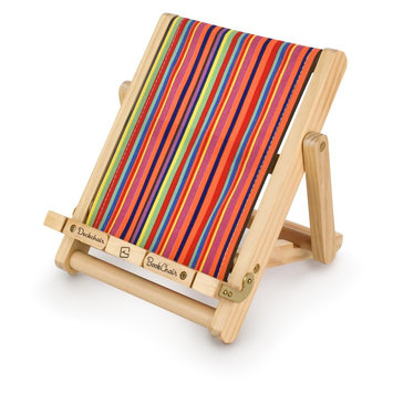 Thinking Gifts Deckchair Book Chair - Striped, Multi-Colored