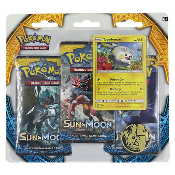 Pokemon Trading Card Game Sun Moon 3 Pack Blister featuring Togedemaru