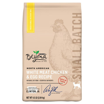 Purina Beyond Small Batch Grain-free North American White Meat Chicken & Egg Dry Cat Food - 4.5 lb. Bag, Pk of 2