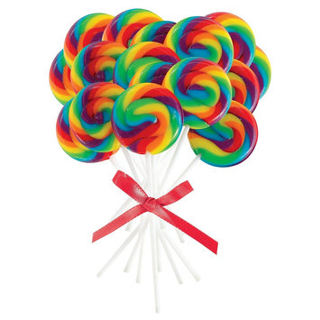 Official Costumes Mini Rainbow Spiral Lollipops