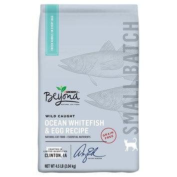 Purina Beyond SM Batch Grain-free Wild Caught Ocean Whitefish & Egg Recipe Dry Cat Food - 4.5 lb. Bag, Pk of 2