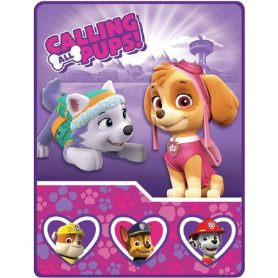 Franco Nickelodeon's Paw Patrol Girl Pups and Paws Sherpa Throw
