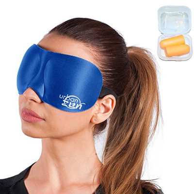 Urban Zen - Premium Ultra Comfortable 3D Sleeping Mask - 3 Color Variation - Contoured Eye Mask + Special Bundle 40+ Hours of Relaxation Music