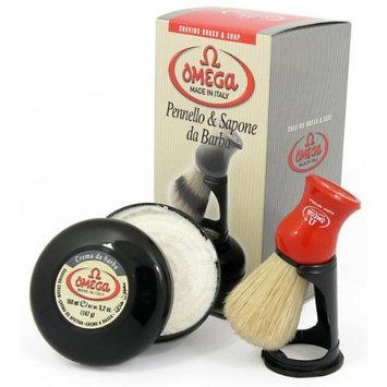Omega 46065 Shaving Set with Brush
