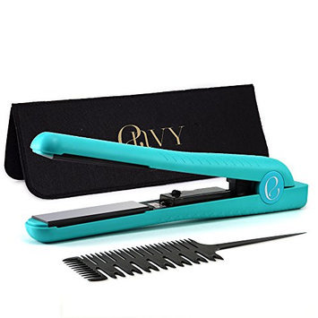 Envy Dual Voltage 110v - 220v Professional 1.25-Inch Ceramic Flat Iron Hair Straightener with Comb and Case