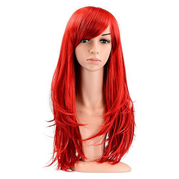 PINKISS LS103RED Fashion Colorful Harajuku Style Cosplay Wig with Free Cap