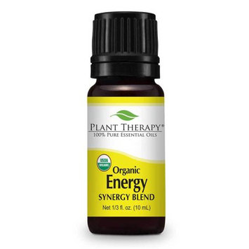 Plant Therapy Energy Organic Synergy 10 mL (1/3 fl. oz.) 100% Pure, Undiluted, Therapeutic Grade
