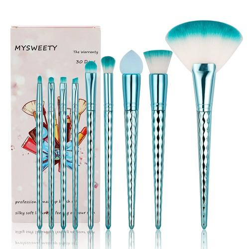 16PCS Makeup Brush Set, MYSWEETY 2018 12PCS Foundation Colorful Unicorn Blending Cosmetic Eyeshadow Brush + 2pcs Silicone Makeup Sponge + 1pc Makeup Wash Egg + 1pc Makeup Brush Bag