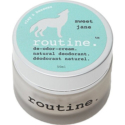 Routine De-Odor-Cream 50ml Clay & Beeswax Formula Natural Deodorant Cream (Sweet Jane)