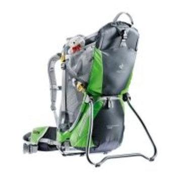 Deuter Kid Comfort Air Child Carrier 4652442240, Pack Size: 0-999 cu in, 0 - 999, Color: Granite/Emerald, w/ Free S&H