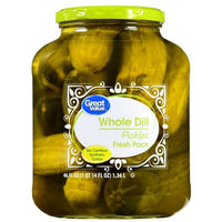 Wal-mart Stores, Inc. Great Value Whole Dill Pickles, 46 oz