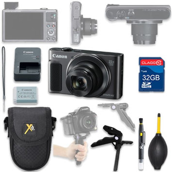 Als Variety Canon PowerShot SX620 HS Digital Camera(black) with 32GB SD Memory Card + Accessory Bundle