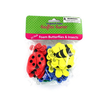 Krafters Korner Foam butterfly and insect shapes (Available in a pack of 36)