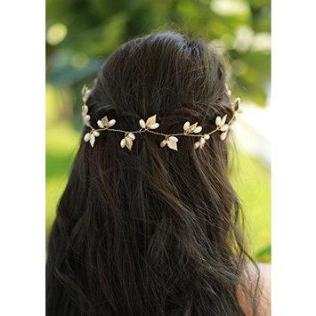 Missgrace Bridal Gold Leaf Hair Vine Hair Accessories Bridal Headpiece Wedding Hair Vine Gold Leaf Hair Vine Gold Bridal Hair Piece Wedding Hair Wreath for Women and Bride