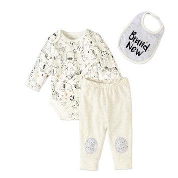 Bon Bebe Baby Boy (0-9M) bone bebe Brand New Safari Pants Set 3-6 Months, White