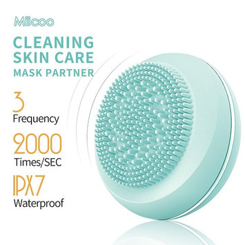 Luxury Mini Electric Facial Cleaning Brush,Sonic Rechargeable Waterproof Silicone Face Cleanser, Body and Face Scrubber Skin Microdermabrasion Exfoliator and Massager Skin Care Tool
