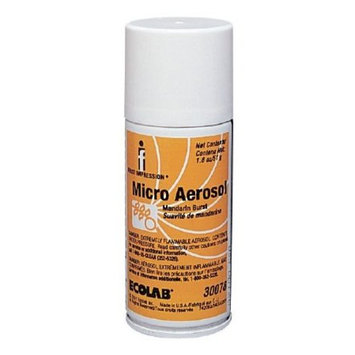 First Impression Air Freshener Mandarin Burst Scent ''1.8 oz. Aerosol Spray Can, 12 Count''