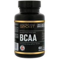 California Gold Nutrition, BCAA, AjiPure, Branched Chain Amino Acids, Gluten Free, 500 mg, 60 Veggie Caps