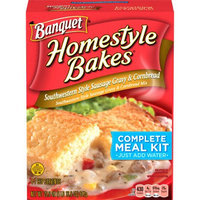 Home Style Bakes Banquet Homestyle Bakes Southwestern Style Sausage Gravy & Cornbread Complete Meal Kit, 29.9 oz