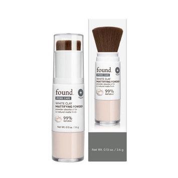 FOUND PORE CARE White Clay Mattifying Powder, 0.13 fl oz