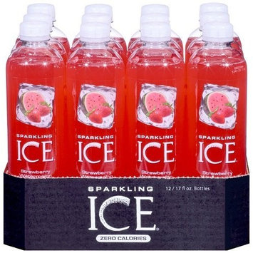 Sparkling ICE Spring Water (Strawberry Watermelon, 17 Oz, Pack of 24 Units)