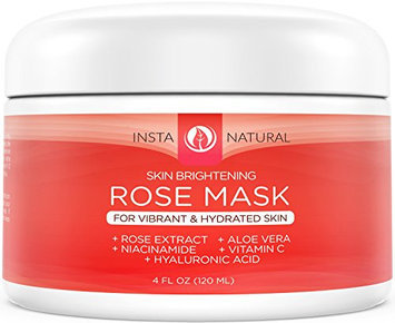 InstaNatural Skin Brightening Facial Rose Mask with Vitamin C