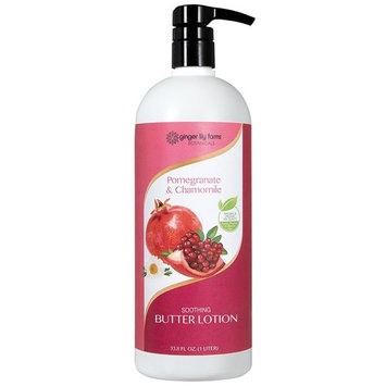 Ginger Lily Farm's Botanicals Butter Lotion, Pomegranate & Chamomile Liter, 32 Ounce [Pomegranate & Chamomile Liter]