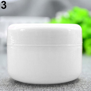 rainbow25 5 Pcs/Set Empty Makeup Pot Jar Travel Face Cosmetic/Lotion/Cream Containers size 20 (White)