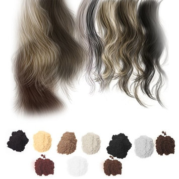 Lulujan Hair Fibers Hair Building Fibers Hair Loss Concealer for Thinning Hair Color Powder Conceal 100g (Gray)