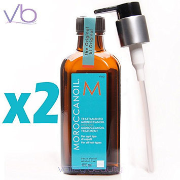 Moroccan Oil Hair Treatment 3.4 Oz Bottle with Blue Box (6.8-Oz)
