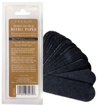 Cuccio Naturale 50 Count Black Refills (80 Grit) for Pedicure File