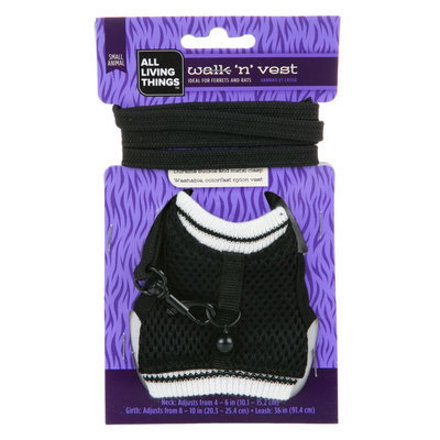 All Living Things® Walk 'n' Vest Small Animal Leash (Color Varies) size: Small, Multi-Color