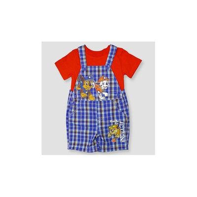 Paw Patrol Baby Boys' Shortall & Shirt Set - Blue 6-3M