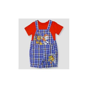 Paw Patrol Baby Boys' Shortall & Shirt Set - Blue 3-6M