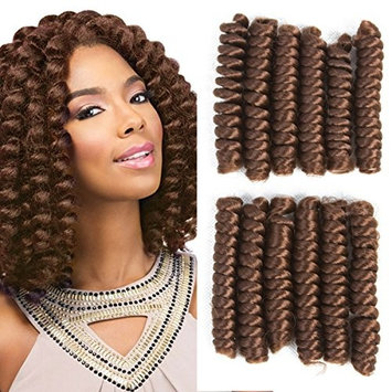 1 Pack Afro Kinky Braiding Hair Extensions African Braids ELEGANT MUSES Jamaican Bounce Crochet Hair Toni Curl Synthetic Crochet Braids Hair (10