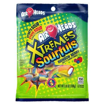 Perfetti Van Melle Airheads Xtremes Sourfuls Rainbow Berry 3.8oz Bag - Box 12