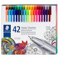 Staedtler triplus Fineliner Marker Pens, 42ct, Multi-Colored
