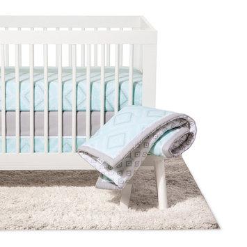 NoJo Crib Bedding Set 8pc - Dreamer - Mint, Multi-Colored