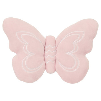 NoJo Plush Pillow - Daydreamer - Pink Butterfly