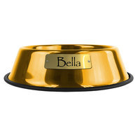 Platinum Pets Personalized Pet Bowl size: 64 Oz, 24 Karat Gold