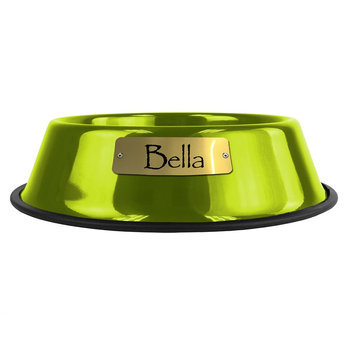 Platinum Pets Personalized Pet Bowl size: 64 Oz, Corona Lime