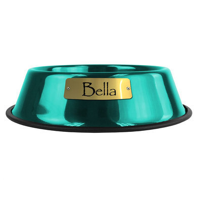 Platinum Pets Two Piece Dog Bowl with Skid Stop in Corona Lime