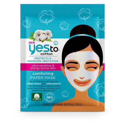 Yes to Cotton Ultra-Sensitive & Allergy Prone Skin Comforting Mask - 1 ct