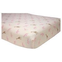 Babies R Us Sadie & Scout Pink Safari Crib Sheet