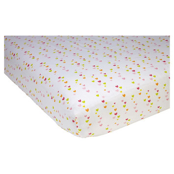 Sadie & Scout Fitted Crib Sheet - Chelsea - Heart