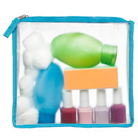 Blue Avocado (re)zip Zippered Travel Reusable Storage Bag, Blue