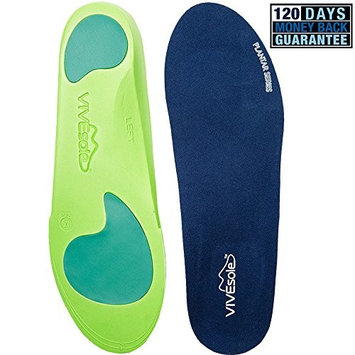 Plantar Fasciitis Insoles - Arch Support Orthotics -Shoe Inserts for Comfort & Relief from Flat Feet, High Arches, Back, Fascia, Foot & Heel Pain - Full Length - Plantar Series by ViveSole