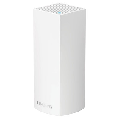 Linksys Velop AC2200 MU-Mimo Tri-Band Whole Home Wi-Fi, Bluetooth Enabled, Integrated with Amazon Alexa, 1-pack - White (WHW0301)